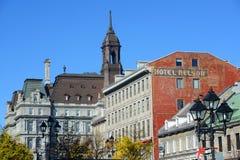 Ayuntamiento y Maison Cartier, Quebec, Canadá Montreal Imágenes de archivo libres de regalías