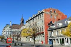 Ayuntamiento y Maison Cartier, Quebec, Canadá Montreal Foto de archivo