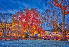 Ayuntamiento y parque de Viena imagen de archivo libre de regalías