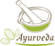 ayurveda Εικονίδιο για το σχέδιο Στοκ εικόνα με δικαίωμα ελεύθερης χρήσης