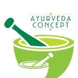 Ayurveda concept. Creative ayurveda concept vector illustration Royalty Free Stock Image