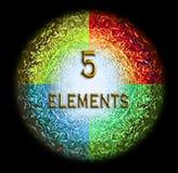Ayurveda five elements black background. Ayurveda icon on black background Royalty Free Stock Photo