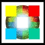 Ayurveda five elements black background Stock Images