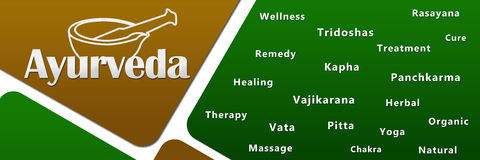 Ayurveda Green Golden Royalty Free Stock Photos