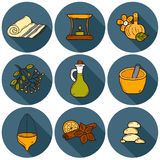 Ayurveda hand drawn icons Royalty Free Stock Images