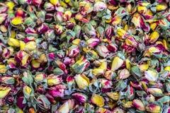 Ayurveda Herbal Medicine Of Dried Petals Of Rose Stock Photo