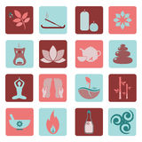 Ayurveda icons Stock Photography