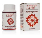 Ayurveda Line Ashwagandha herbal pills Withania somnifera, Ind royalty free stock image