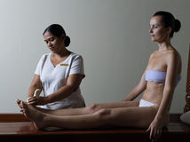 Ayurveda masaż zdjęcie royalty free