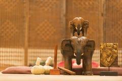 Ayurveda massage med bollar i SPA hotellet arkivbild
