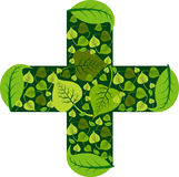 Ayurveda medical logo royalty free illustration