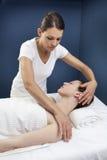 Ayurveda and reflexology zen treatment Stock Image