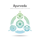 Ayurveda set icon 02 Stock Image