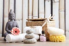 Ayurveda symbole dla relaksu i wewnętrznego piękna Obraz Stock