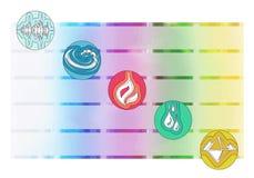 Ayurveda symbole i pięć elementów Fotografia Stock