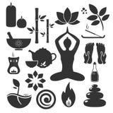 Ayurveda symboler Fotografering för Bildbyråer