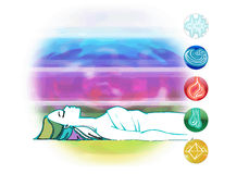 Ayurveda symbols and five elements Royalty Free Stock Photography