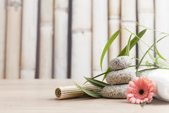 Ayurveda symbols for relaxation and inner beauty. Wellness and spa concept,relaxation items Royalty Free Stock Image