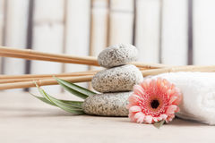 Ayurveda symbols for relaxation and inner beauty Stock Photos