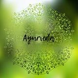 Ayurveda-Vektorillustration Lizenzfreies Stockfoto