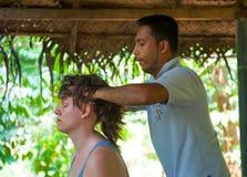 Ayurvedic head massage Royalty Free Stock Photo