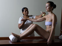 Ayurvedic massage care Royalty Free Stock Image