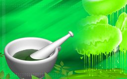 Ayurvedic medicine making. Digital illustration of ayurvedic medicine making Royalty Free Stock Photo