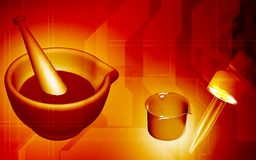 Ayurvedic medicine making. Digital illustration of ayurvedic medicine making Stock Photography
