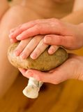 Ayurvedic oil hand massage Stock Photos