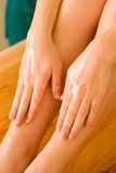 Ayurvedic oil massage Stock Image