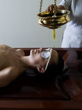 ayurvedic omsorgsmassage royaltyfria foton