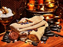 Ayurvedic spa massage still life Royalty Free Stock Photo