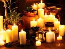 Ayurvedic spa massage still life. Luxury ayurvedic spa massage still life stock photo