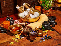 Ayurvedic spa massage still life Stock Photography