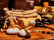 Ayurvedic spa massage still life Royalty Free Stock Images