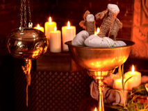 Ayurvedic spa massage still life Royalty Free Stock Photography