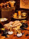 Ayurvedic spa massage still life Royalty Free Stock Photos