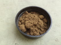 Ayurvedic Tooth Powder. For healthy teeth and gums Stock Images