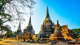 Ayutaya 1. This is history place an old palace in Ayutaya Thailand Royalty Free Stock Photography