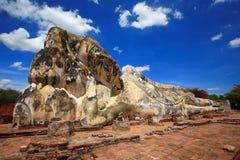 ayuthaya菩萨斜倚的泰国 库存照片