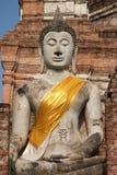 ayuthaya菩萨雕象泰国 免版税库存图片