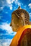 ayuthaya菩萨雕象泰国 图库摄影