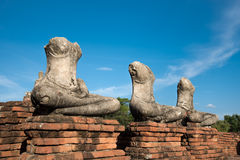 Ayuthaya,泰国古庙  免版税库存图片