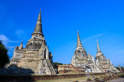 ayuthaya świątynia Thailand Obrazy Royalty Free
