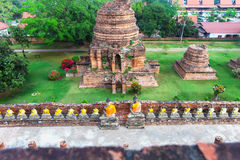Ayuthaya, Ταϊλάνδη - 13 Φεβρουαρίου 2014: Τοπ άποψη από Wat Yai Chaimongkhon Στοκ φωτογραφία με δικαίωμα ελεύθερης χρήσης