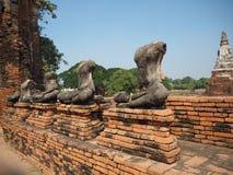 Ayuthaya, de oude hoofdstad van Thailand stock afbeelding