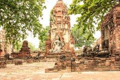 Ayuthaya kingdom history. Ayutthaya kingdom history in Thailand Stock Photo