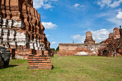 Ayuthaya temple ruins thailand Royalty Free Stock Photo