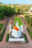 Ayuthaya, Thailand - 13. Februar 2014: Draufsicht von Wat Yai Chaimongkhon Stockbild