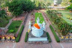 Ayuthaya, Thailand - 13. Februar 2014: Draufsicht von Wat Yai Chaimongkhon Lizenzfreies Stockfoto